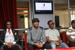 Sir Victor Uwaifo now joins HyperTek Digital with 2face Idibia Dammy Krane and Rocksteady. The signing was announced on November 30, 2013 at Club Rumours, Ikeja. Photo: TCD Photography, Netng