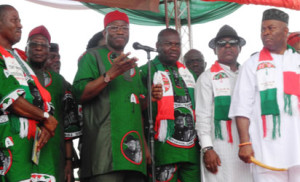 President Jonathan at the Tony Nwoye Campaign in Anmbra (Photo Credit: TV36O)