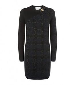 Philip Lim plaid cashmere blend dress