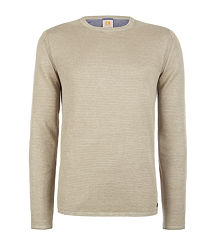 camel boss linen sweater
