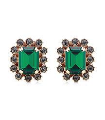emerald ear rings