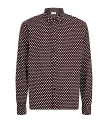 geometric print men shirt