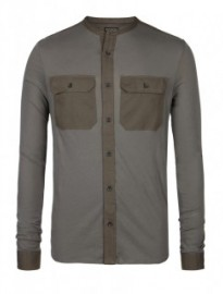 military inspired long sleeve shirt