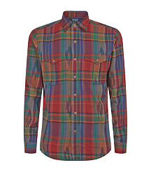 plaid men polo ralph lauren shirt