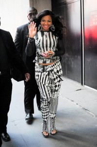 Ashanti givenchy check embossed boots