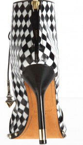 Givenchy-Harlequin-black-and-white-check-Bootie-2