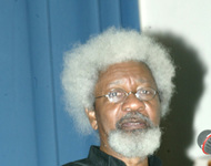 The author and Noble Prize winner, Prof Wole Soyinka speaking about his Memoirs. PHOTO; SUNDAY AGHAEZE