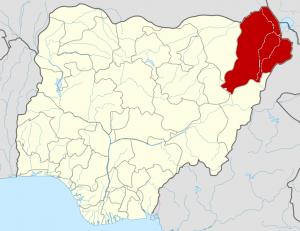 Borno State Map, Credit: Wikipedia
