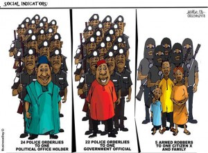 While the politicians are protected with number of police officers, the average Nigerian will have to contend with terrorist and armed robbers..