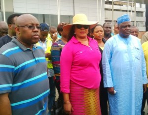 Inspection of remodeled  Port-harcourt international Terminal