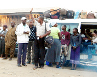 PIC.4. CHRISTMAS TRAVELERS AT A MOTOR PARK IN KUBWA, ABUJA ON FRIDAY (21/12/12)