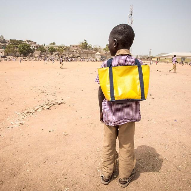 A school child in Suleja, Niger State. Photo Credit Tom Saater