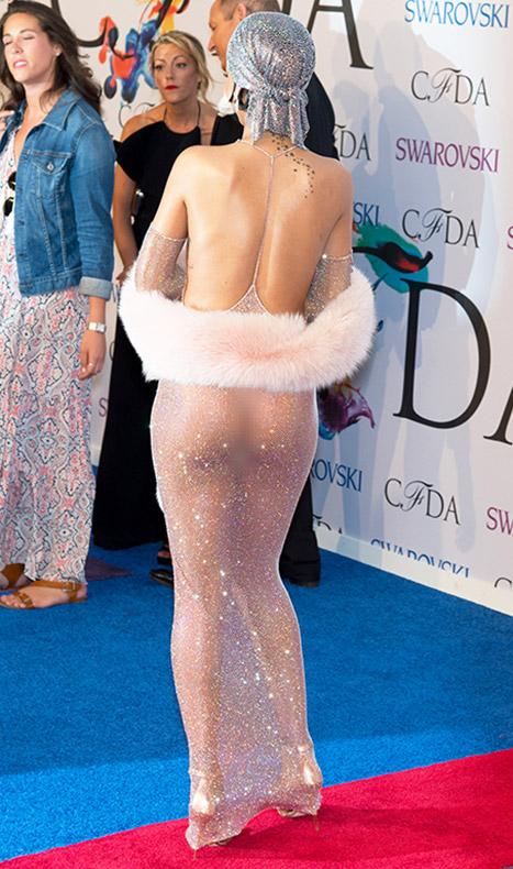 Rihanna See through back