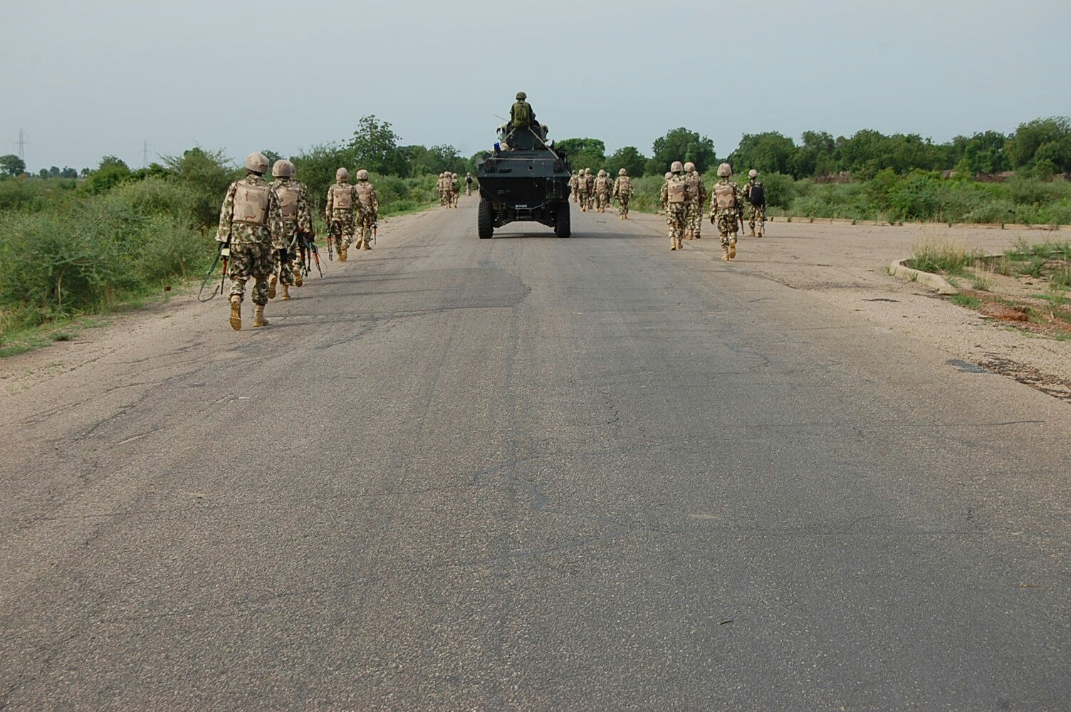 Troops advancing to retake Damboa