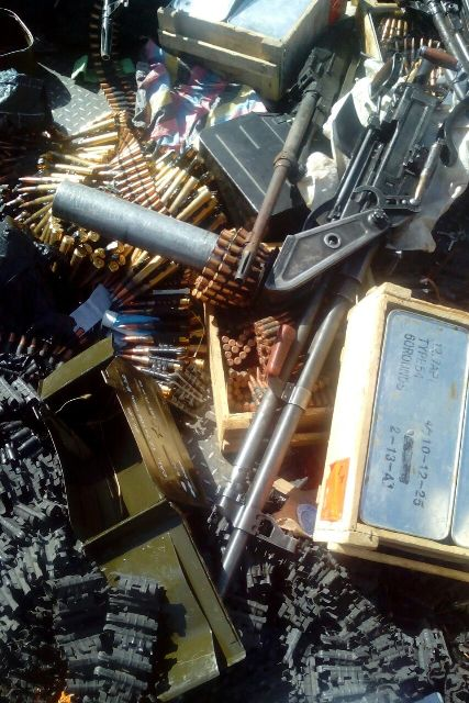 More arms and ammunitions seized from the terrorists