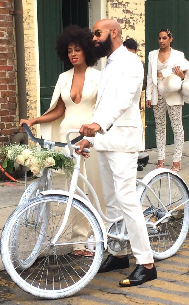 Solange bicycle wedding