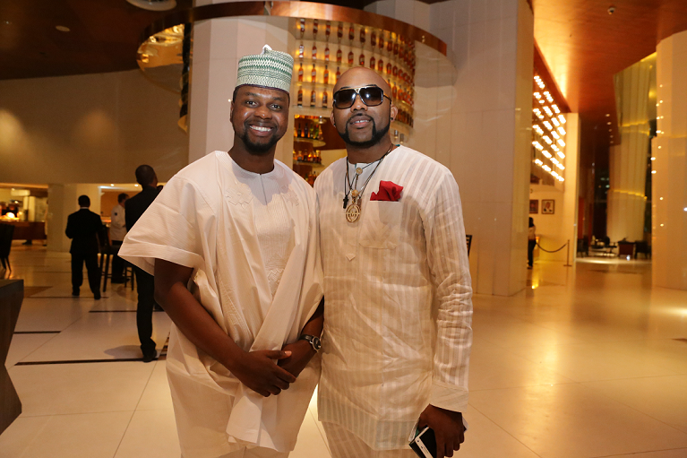 Adebola Williams with Banky W
