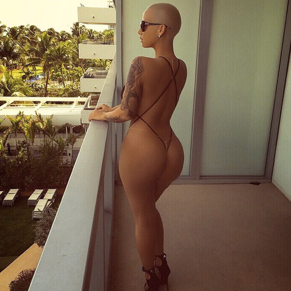 Amber Rose Is About To Break The Internet, Goes Nude With G-String Monokini