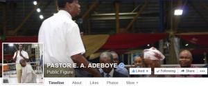 Adeboye Facebook