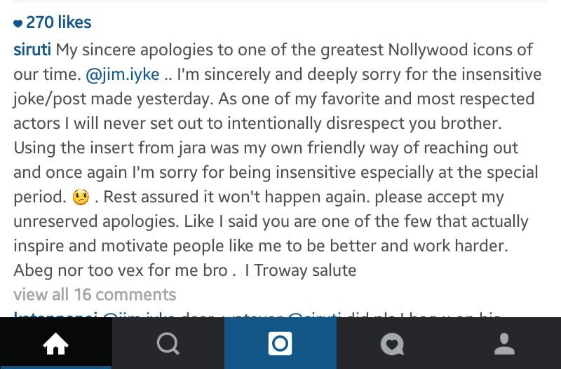 Uti apology
