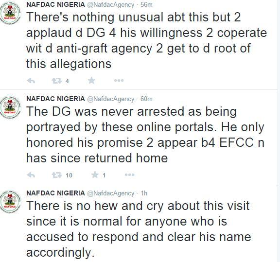 NAFDAC Tweets