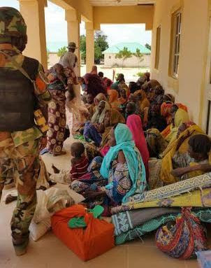 Wives Of Boko Haram Terrorists Surrender In Borno [Photos]