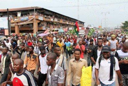 Radio Biafra protest 1