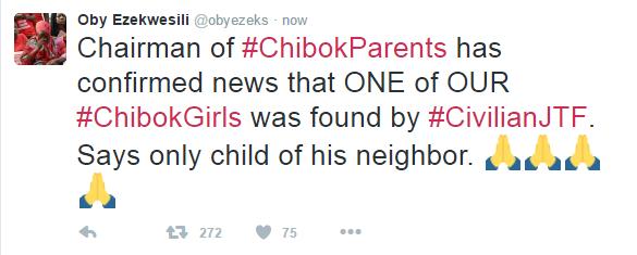 Chibok Ezekwesili Tweets
