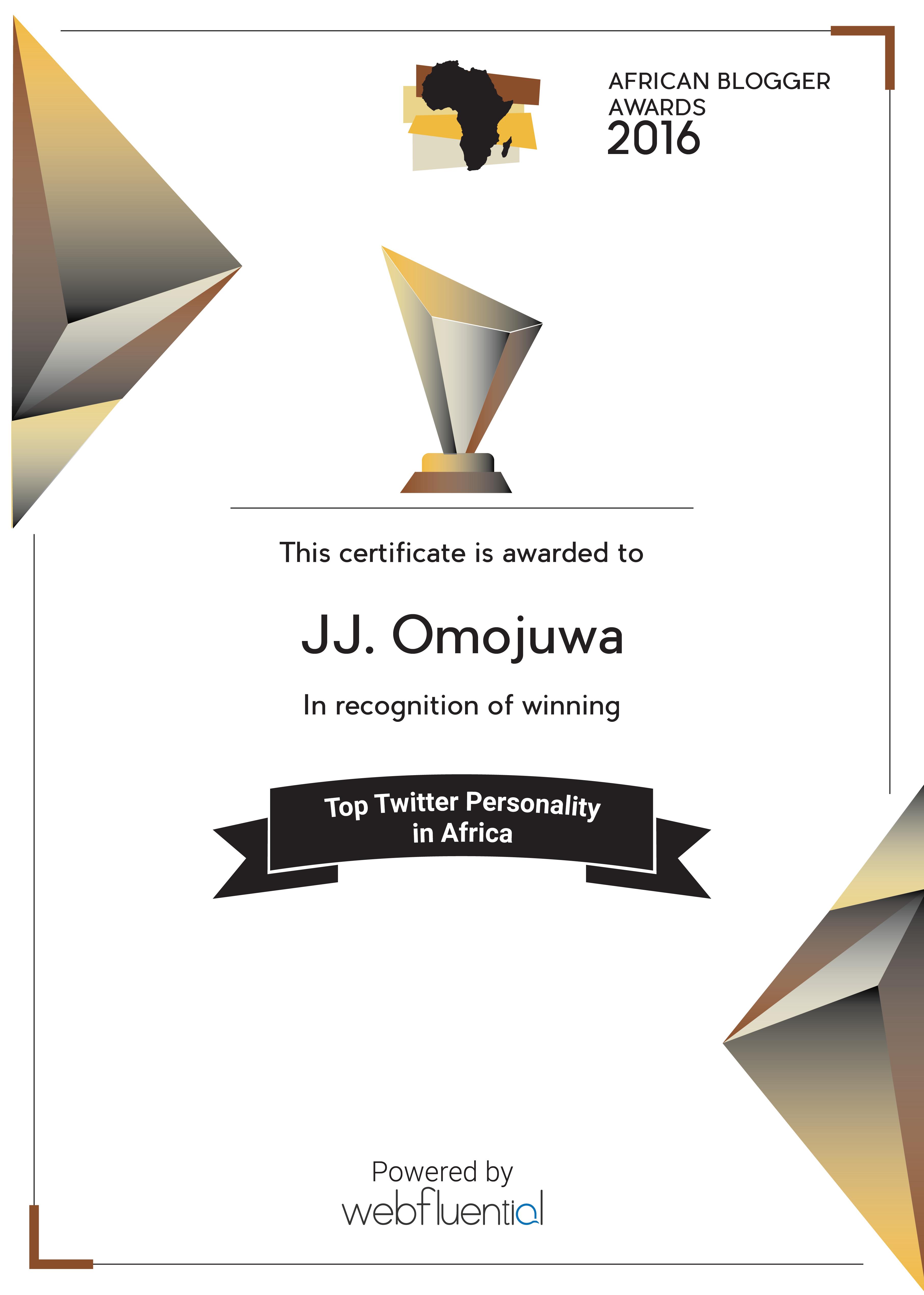 Omojuwa Certificate