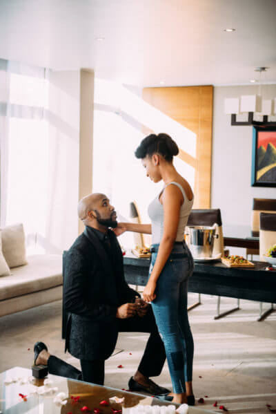 """I Fell In Love With An Actress"" – Banky W Announces Engagement To Adesuwa Etomi"
