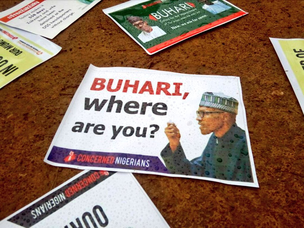 Buhari Absence Protest 2